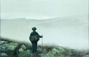 Langt-langt-der-borte-saa-han-noget-lyse-og-glitre-1900-Nasjonalmuseet-for-kunst