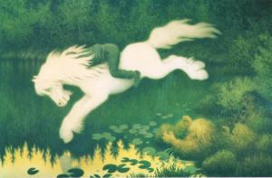 Nøkken som hvit hest, 1909