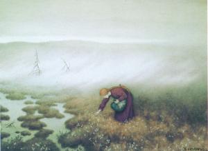 Prinsessen plukker myrull, 1913