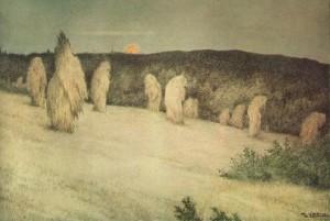 Kornstaur i måneskinn, 1900